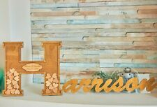 Wedding Guest book Alternative Wooden Drop Book Family Name sign book Personal