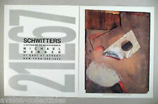 Kurt Schwitters Art Gallery Exhibit Double-Page PRINT AD - 1990 ~~ Mask