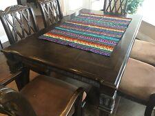 Colorful Guatemalan table runner