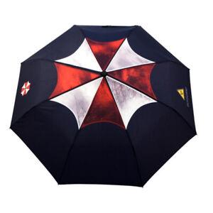 Resident Evil Umbrella Corporation Logo Black Fancy Folding umbrella Movie New