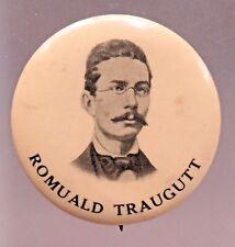 scarce 1890's ROMUALD TRAUGUTT Polish General & War Hero pinback button +
