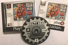 Guilty Gear PS1 PLAYSTATION 1 PSone jeu de combat + boîte instructions complet très bon état
