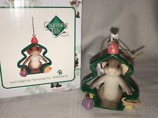 """Charming Tails """"You Fit Right Into Holiday"""" Dean Griff Nib Christmas Ornament"""