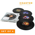6pcs Retro CD Record Coasters Non Slip Cup Mat Pad For Drinks Coffee Tea Beer