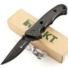 """CRKT Knives 5 1/4"""" closed linerlock. 3 3/4"""" black coated stainless modified clip"""