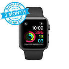 Apple Watch Series 2 42mm Space Grey Aluminium Case Black Sport Band *WARRANTY*