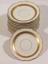 Schweden - Karlskrona Goldrand Porzellan Geschirr mit Goldrand Unterteller