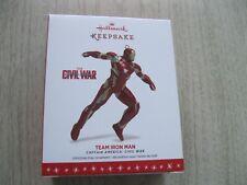 2016 Hallmark Ornament - Team Iron Man - Captain America Civil War New In Box