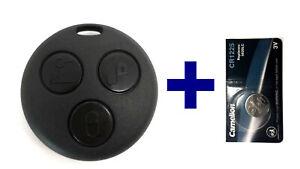 Auto Funk Schlüssel Fernbedienung Gehäuse + Batterie für Smart ForTwo-MC01 450