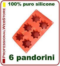 6 MINI PANDORO FORMA stampo SILICONE forme PANDORI PANDORINI stampi dolci NATALE