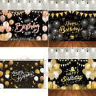 5.9*3.77ft Happy Birthday Backdrop Banner Background Cloth Props Party Decorate