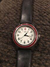 Victorinox Swiss Army Original  Red Bazel Black Badley Roma Leather Strap Watch