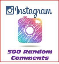 Instagram Service - 500 Random Comments