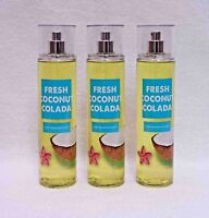 Bath & Body Works Fresh Coconut Colada Fine Fragrance Mist set of 3