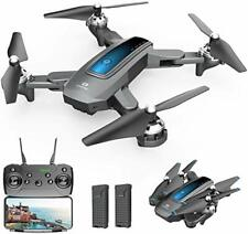 DEERC D10 Foldable Drone with Camera for Adults 720P HD FPV Live Video, Tap Fly,