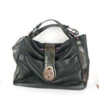 Lollipops Dark Olive Faux Leather Large Handbag 43cm X 33cm Pristine
