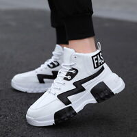 Men's Sneaker Fashion Athletic Shoes Leisure Breathable High Top Jogging Walking
