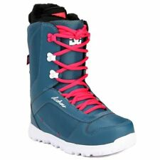 NEW DC SHOES KARMA WOMENS GIRLS SNOWBOARD BOOTS SIZE 9 TEAL & PINK
