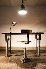 Schreibtisch, antike Werkbank, Tisch, Gusseisen,Industriedesign, Loft