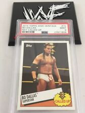 Bo Dallas 2015 Topps Wwe Heritage Nxt Rookie Card #15 Psa 9
