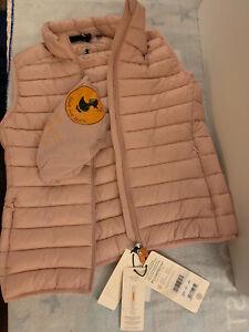 Save The Duck Kira Puffer Vest Blush Womens Size M NEW