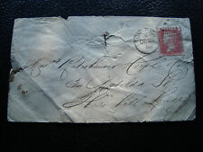 ROYAUME-UNI - enveloppe 23/12/1868 (timbre planche 99) (cy69) united kingdom