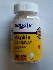 equate aspirin  pain reliever fever reducer 325mg 500 tablets   NEW sealed