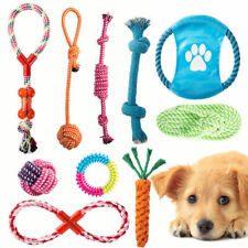 10PC Dog Toys Set Nolsen Pet Puppy Chew Rope Toy Gift Durable Cotton Clean Teeth