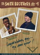 1996 Print Ad of Vater Percussion Drum Sticks w Chad & Marvin The Smith Brothers
