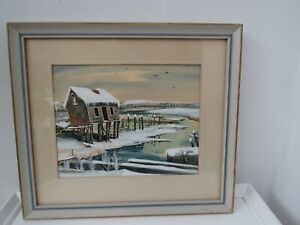Painting of Old Oyster Shack Wellfleet, Ma  Cape Cod by Robert Brooks