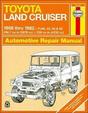Toyota Land Cruiser FJ40, FJ43, FJ45, FJ55 Repair Manual 1968-1982