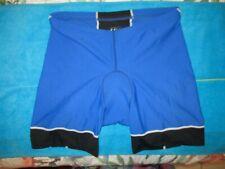 LOUIS GARNEAU BLUE & BLACK LIGHTLY PADDED WOMEN'S BIKE SHORTS SIZE XL