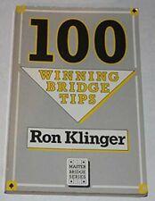 100 Winning Bridge Tips (Master Bridge) by Klinger, Ron Paperback Book The Cheap