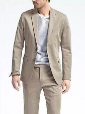Banana Republic Slim Stretch Cotton Solid Suit Jacket,Acorn SZ 44L  #486232 v822