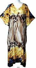Ladies 100% cotton floral printed Long Kaftan/holiday/beach dresses 10-32