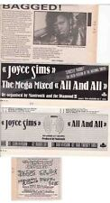 JOYCE SIMS : CUTTINGS COLLECTION -adverts-