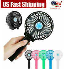 Mini Handy Portable Fan Pocket Size Air Cooler USB w/Battery Rechargeable USA