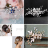 Crystal Pearl Wedding Bridal Hair Comb Pins Band Accessories Bride Hair Jewelry