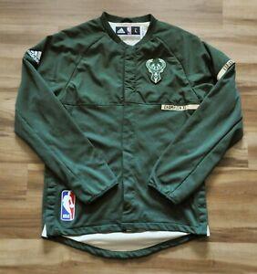 MILWAUKEE BUCKS Adidas Warmup NBA Jacket On-Court 16-17 PRO CUT Men L+2 GIANNIS