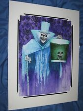 HAUNTED MANSION Art Print Kevin John ~Disney Exclusive HATBOX GHOST 45th Ann.