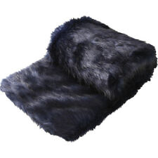 Logan and Mason Presley Ink Faux Fur Throw Rug / Bed Runner 130cm x 180cm