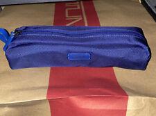 Tumi Accent Cord Pouch Blue Travel Accessory Zipper Bag