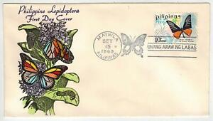 Philippines Lepidoptera HAND TINTED OVERSEAS MAILER FDC #1031
