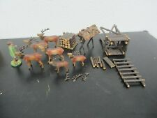 Alte Krippen - Pyramiden - Figuren Holz Masse