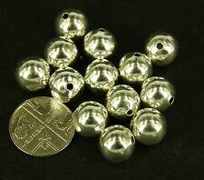x 100 10mm Liso Suave CLARO chapado en plata Orbs Cuentas Espaciadoras SP35