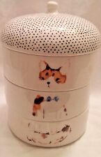 SOLD OUT Anthropologie Paws & Claws Hipster Cat Stacking Trinket Dish Candle Set