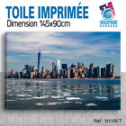 145x90cm - TOILE IMPRIMEE TAXI NEW YORK - TABLEAU DECORATION MURALE - NY-09T