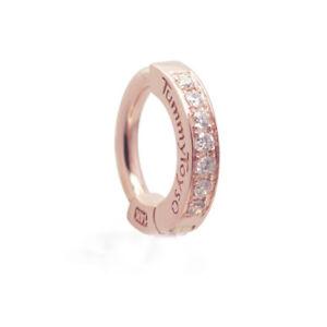 TummyToys 14K Rose Gold Navel Ring - Pave Set with 7 Real Diamonds [TT-17001]