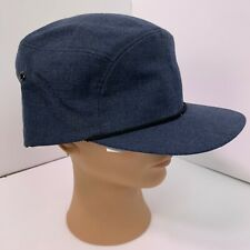 Vtg Uniform Hat French Canadian Workwear New Old Stock Charcoal Blue Size 7.5