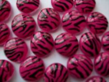 GLASS GEMS HP PARTY FAVORS mini art zebra print  pink and black